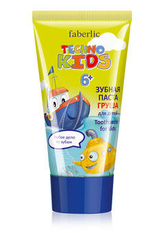 Techno Kids Toothpaste, pear flavor